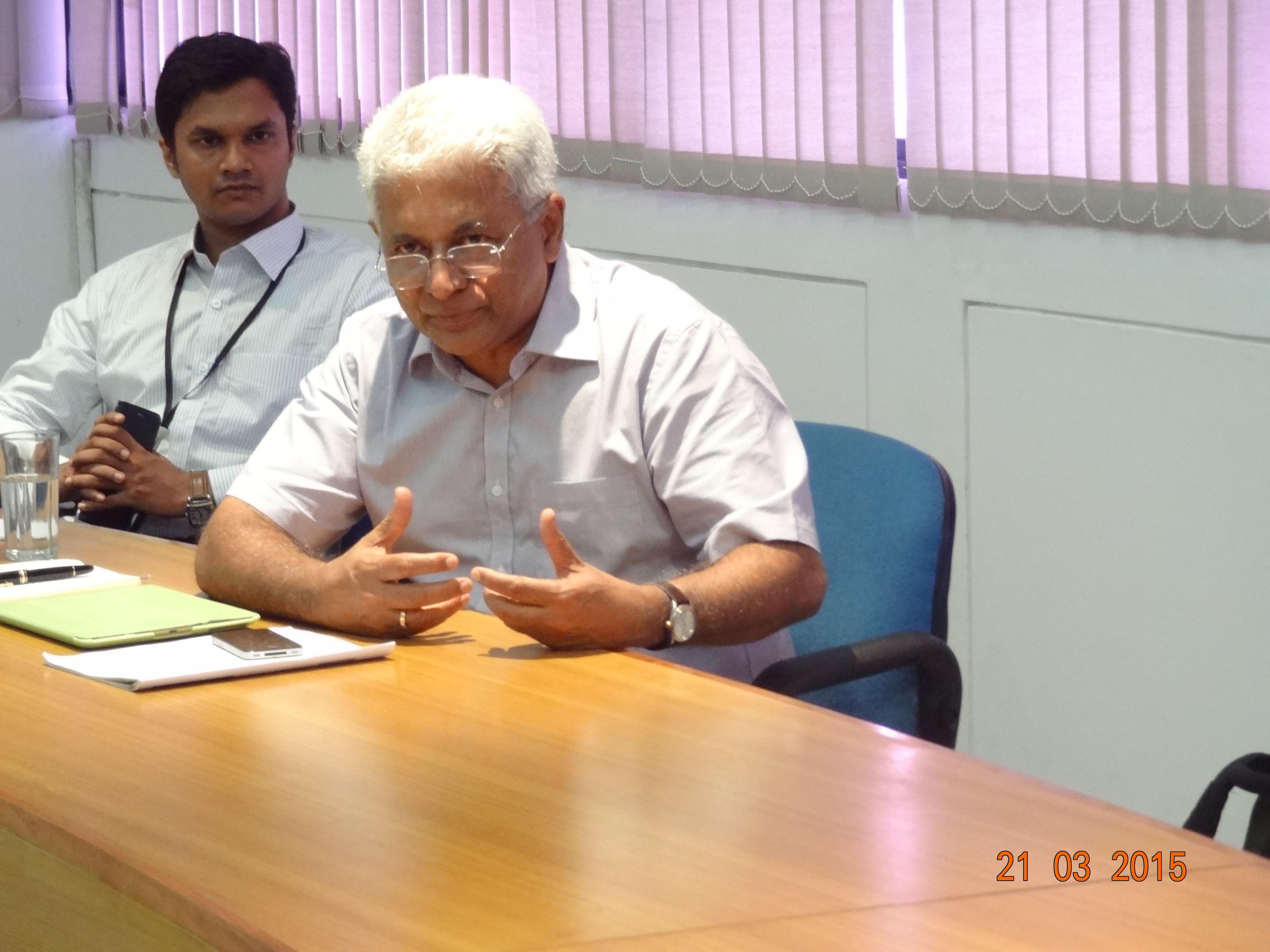 "Set your standards high"" says Mr C Balagopal, Founder Terumo"